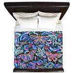 Butterfly Leaves King Duvet