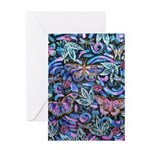 Butterfly Leaves Greeting Card