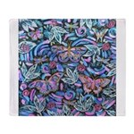 Butterfly Leaves Throw Blanket