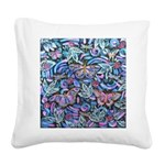 Butterfly Leaves Square Canvas Pillow