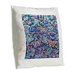 Butterfly Leaves Burlap Throw Pillow