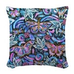 Butterfly Leaves Woven Throw Pillow