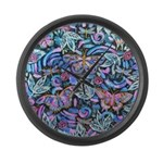 Butterfly Leaves Large Wall Clock