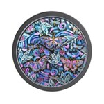 Butterfly Leaves Wall Clock