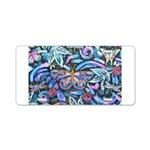 Butterfly Leaves Aluminum License Plate