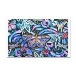 Butterfly Leaves Car Magnet 20 X 12