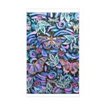 Butterfly Leaves Sticker (rectangle)