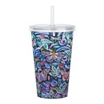 Butterfly Leaves Acrylic Double-wall Tumbler