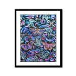 Butterfly Leaves Framed Panel Print