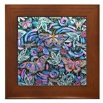 Butterfly Leaves Framed Tile