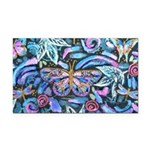 Butterfly Leaves Rectangle Car Magnet