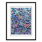 Butterfly Leaves Large Framed Print