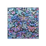 Butterfly Leaves Square Sticker 3