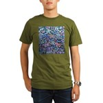 Butterfly Leaves Organic Men's T-Shirt (dark)