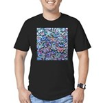 Butterfly Leaves Men's Fitted T-Shirt (dark)