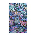 Butterfly Leaves Sticker (rectangle 10 Pk)