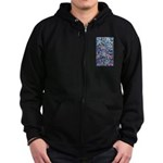 Butterfly Leaves Zip Hoodie (dark)
