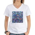 Butterfly Leaves Women's V-Neck T-Shirt