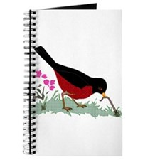 Spring Red Robin Getting Worm Journal