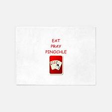 pinochle joke 5'x7'Area Rug