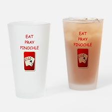pinochle joke Drinking Glass