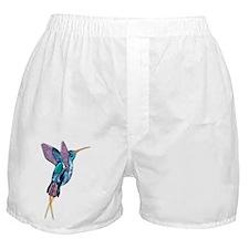 Iridescent Scissortail Hummingbird Boxer Shorts