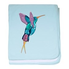 Iridescent Scissortail Hummingbird baby blanket
