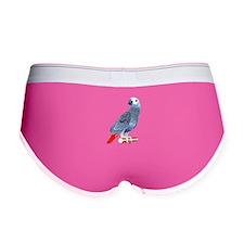 African Grey Parrot Women's Boy Brief