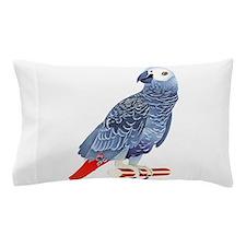 African Grey Parrot Pillow Case