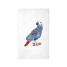 African Grey Parrot Area Rug