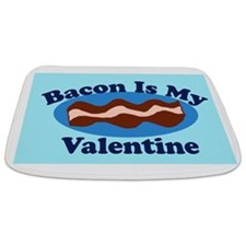 Bacon is my valentine Bathmat