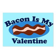 Bacon is my valentine Postcards (Package of 8)