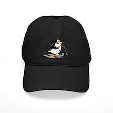 Penguin on Skis Baseball Hat