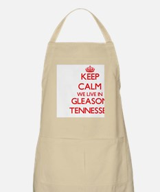 Keep calm we live in Gleason Tennessee Apron