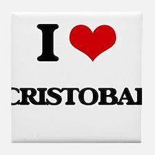 I Love Cristobal Tile Coaster