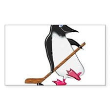 Penguin Hockey Player Decal