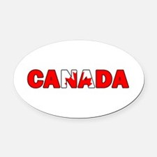 Canada 001 Oval Car Magnet