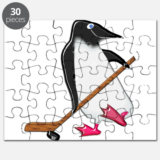 Penguin Hockey Player Puzzle