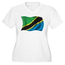 Wavy Tanzania Flag T-Shirt