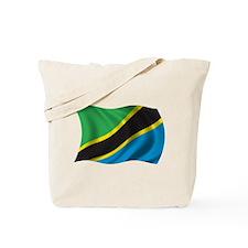 Wavy Tanzania Flag Tote Bag