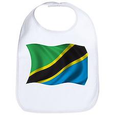 Wavy Tanzania Flag Bib