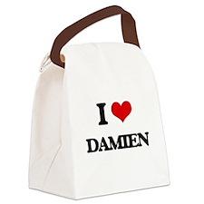 I Love Damien Canvas Lunch Bag