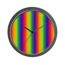 Wild Zany Rainbow Menagerie for Robbie Wall Clock