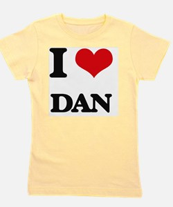 Cute I heart dan Girl's Tee