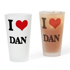 Unique I heart dan Drinking Glass