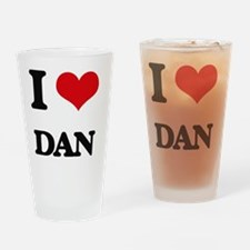 Cute I heart dan Drinking Glass