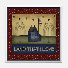 Land that I Love Tile Coaster