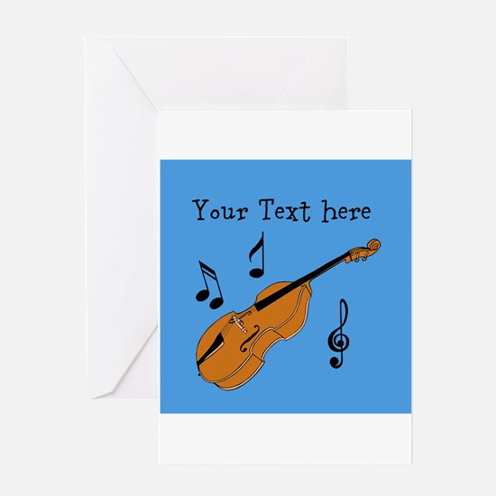 Customizable Violin Design Greeting Cards
