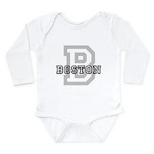 Cute Massachusetts souvenirs Long Sleeve Infant Bodysuit