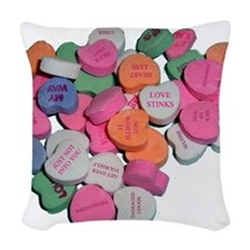 sourhearts1.png Woven Throw Pillow